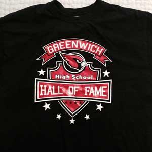 T shirt greenwich high school sports hall of fame for High school basketball t shirts